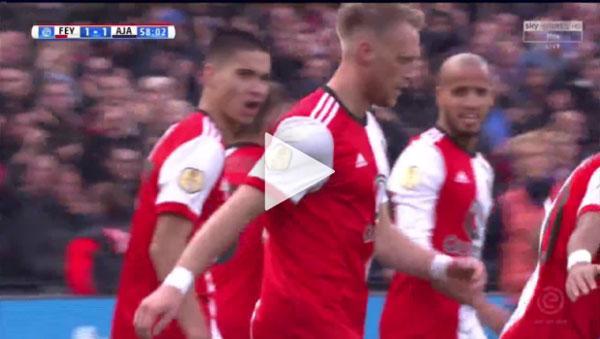 Video Feyenoord 1 - 4 Ajax VĐQG Hà Lan