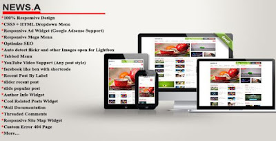 News-A Magazine Responsive Blogger Theme