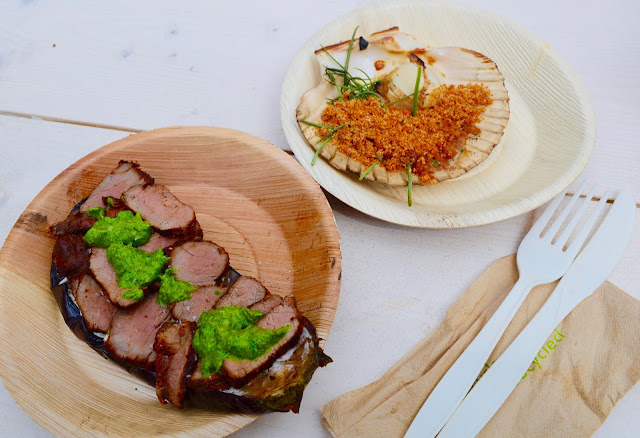 Scallops and steak from Rabbit London Pop-up