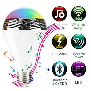 1byone Wireless Bluetooth Speaker Smart LED Night Light Bulb Review