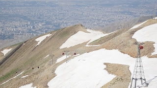 Even in summer there is a lot of snow up in Tehran