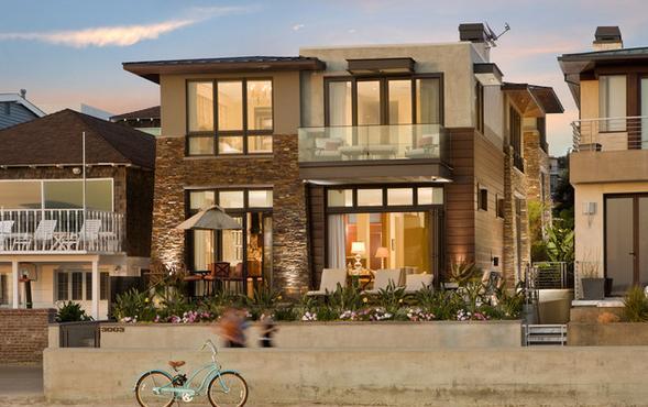 Fachadas casas modernas julio 2013 for Fachadas modernas para casas pequenas de dos plantas