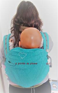 porte-bébé préformé P4 LLA ling ling d'amour pas cher jacquard portage