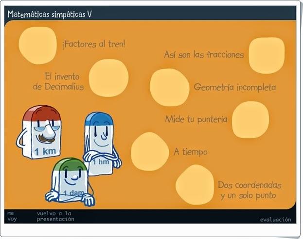 http://recursoseducativosdeprimaria.blogspot.com/2012/12/matematicas-simpaticas-v.html