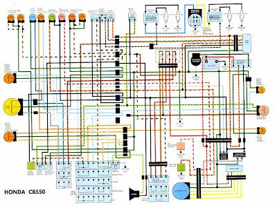 Honda CB550 Electrical Schematic Diagram | Panel switch wiring