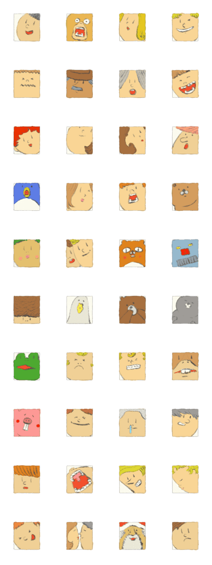 Face tile Stickers 2