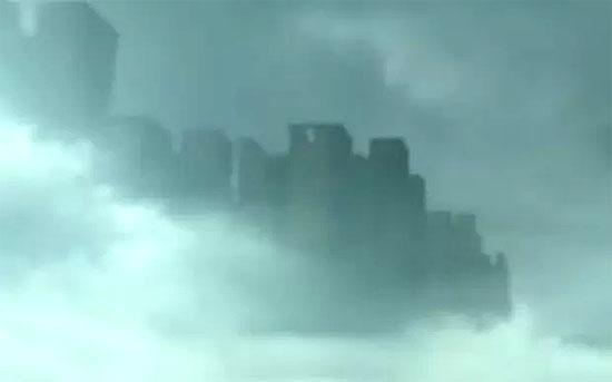 Cidade flutuante nas nuvens no céu da China.jpg