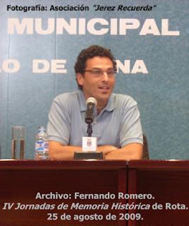 Archivo: Fernando Romero. IV Jornadas de Memoria Histórica de Rota. 25 de agosto de 2009.