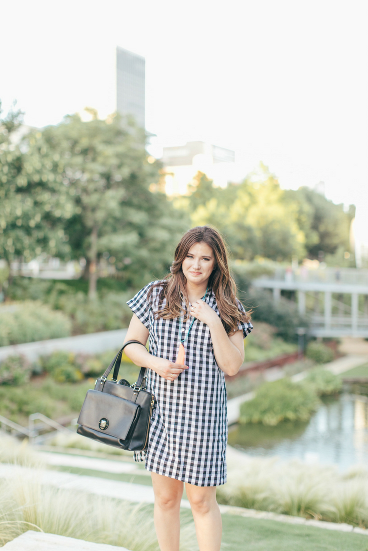 Effortless Cotton Gingham Shirtdress