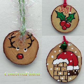 Adornos-navideños-pirograbados-en-madera-y-pintados-con-acrilicos-y-cintas-crea2conpasion