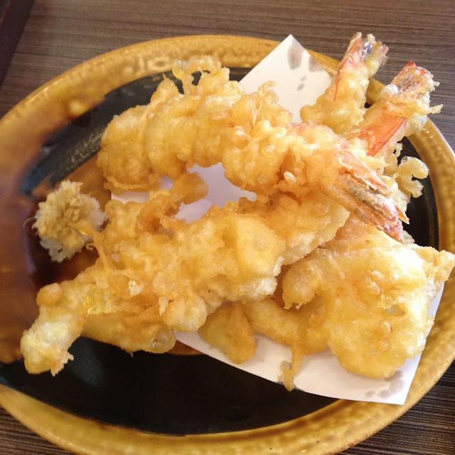 prawn tempura at Tonkatsu