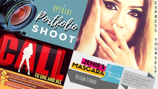 Makeover and portfolio photoshoot in Guwahati by Jenie's Mascara