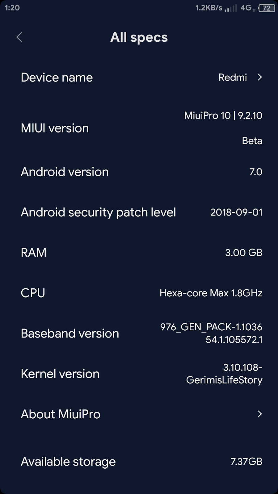 Gerimis's Life Story: Collection of kernel miui Nougat for kenzo