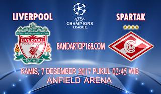 Prediksi Liverpool vs Spartak Moscow 7 Desember 2017