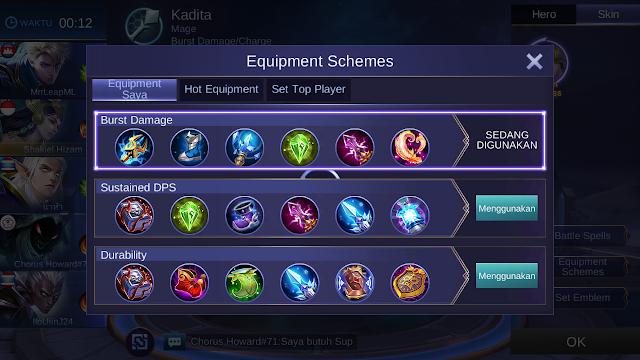 build item gear kadita