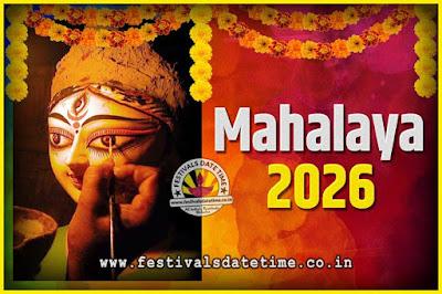 2026 Mahalaya Puja Date and Time Kolkata, 2026 Mahalaya Calendar