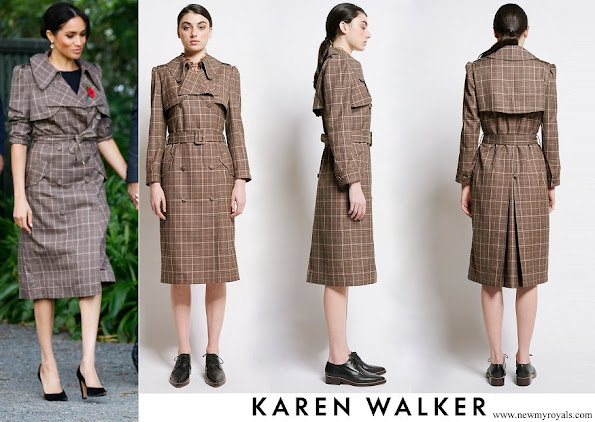 Meghan Markle wore Karen Walker Banks Trench Coat