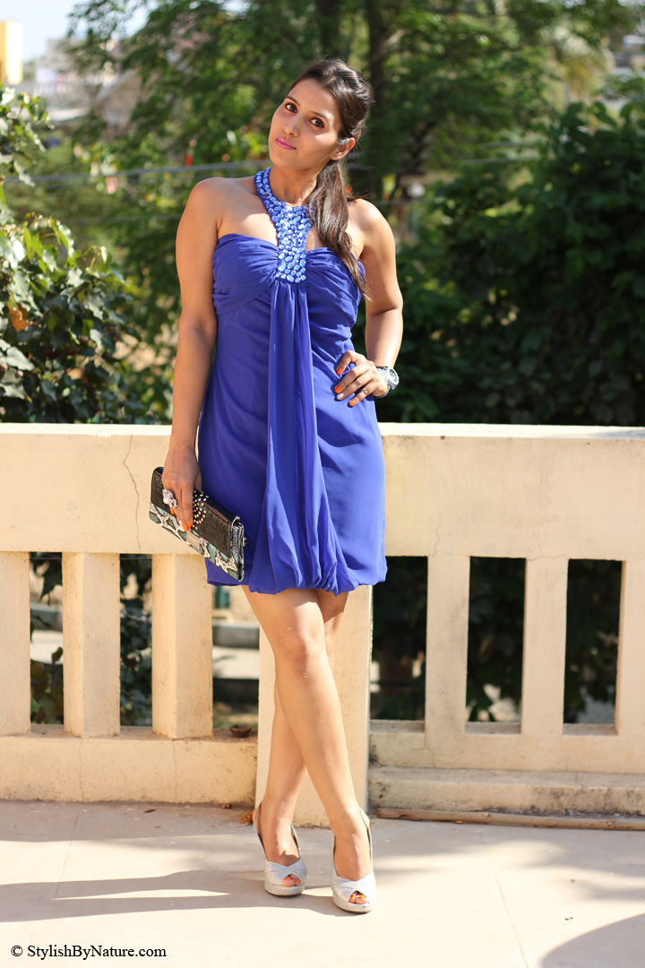 Fashion Cocktail Cobalt Blue Beads Studs 2013 Stylish By