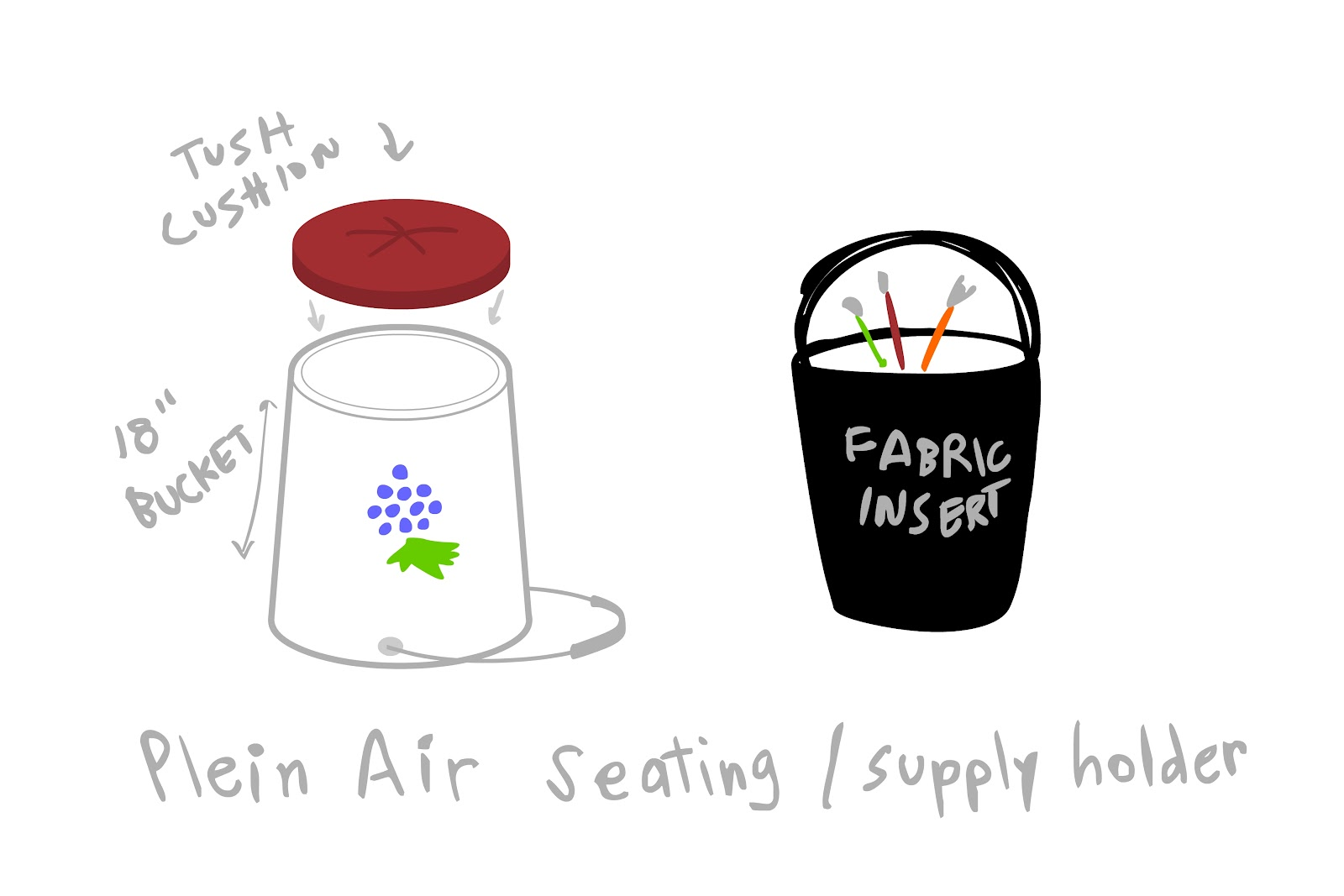 M Patrizio Paintings Sketches Bucket Seating For Plein