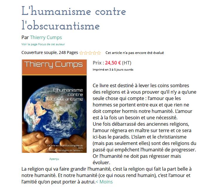 L'humanisme contre l'obscurantisme
