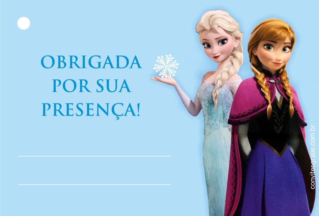tag gratis para imprimir Frozen