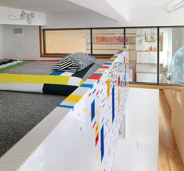 Decorar el dormitorio con piezas de LEGO
