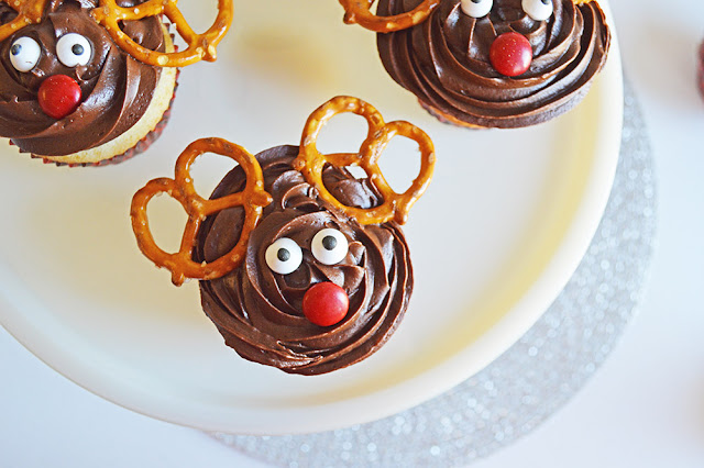 Reindeer Cupcakes recipe from Served Up With Love