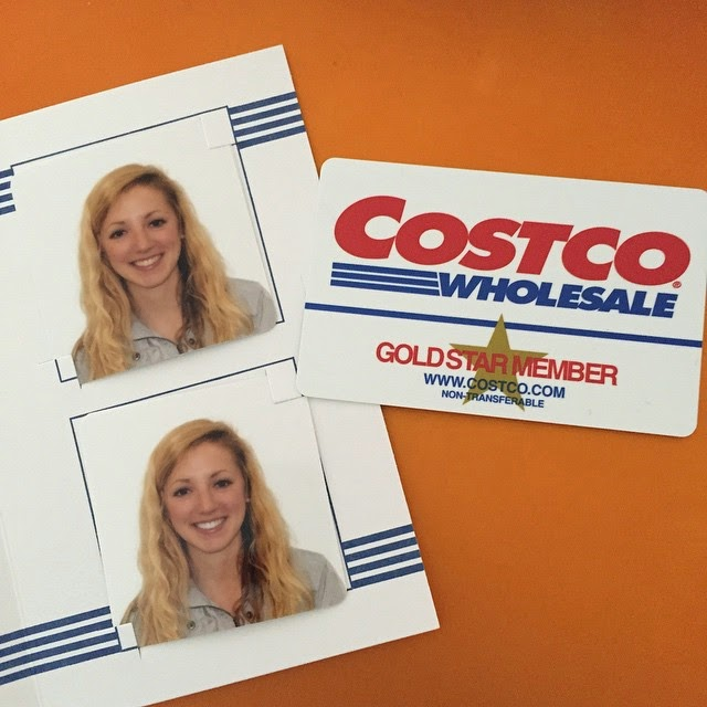 Picture of passport pictures and Costco card