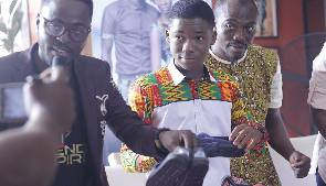 Photos: 10, 000 Abraham Attah Tom shoes in & ready for donation