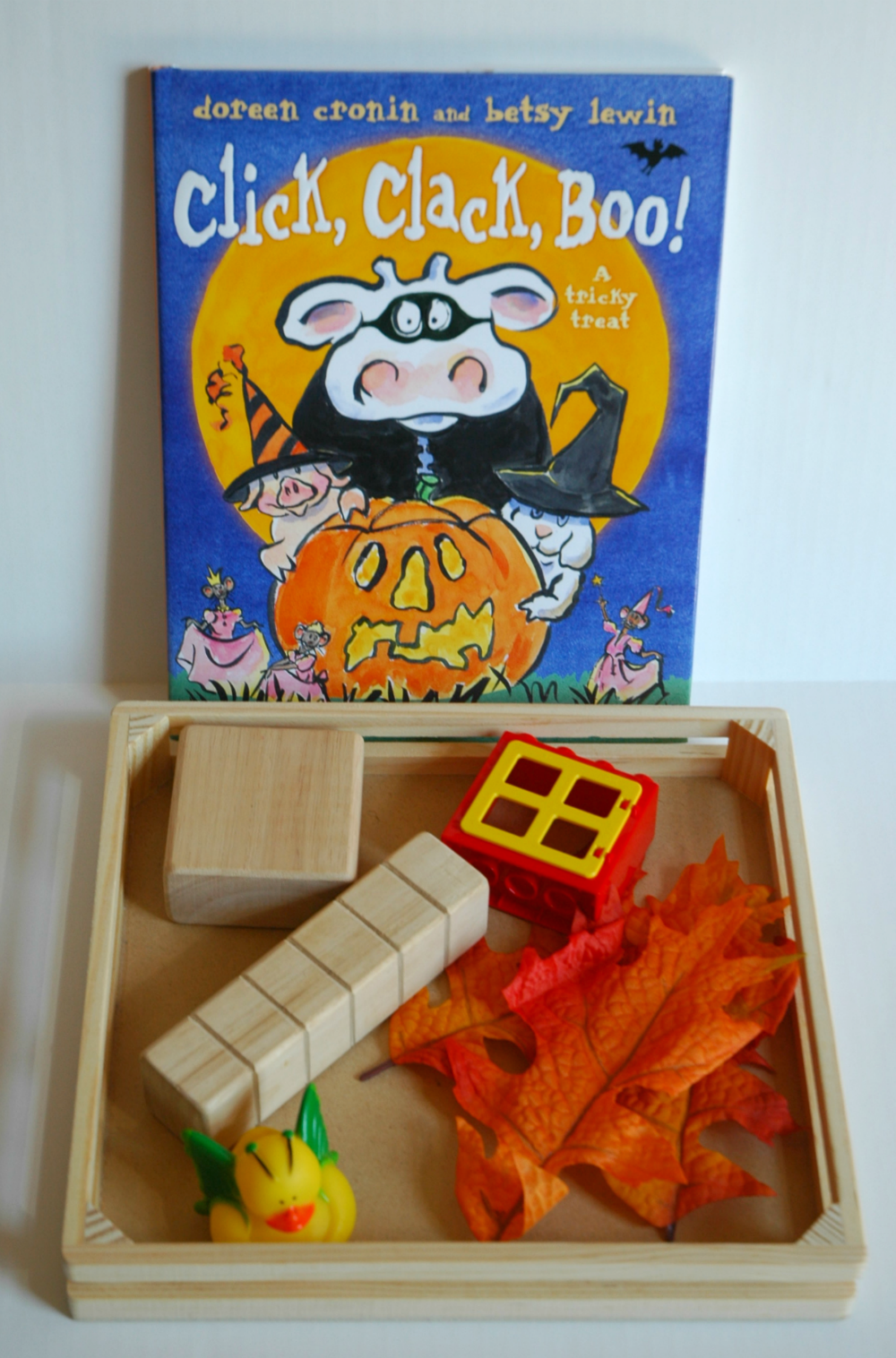 Book extension activity for click clack boo halloween