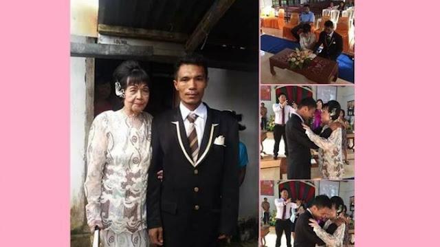 VIRAL: Nenek Berusia 82 Tahun Nikah dengan Pemuda 28 Tahun Bikin Heboh di Manado