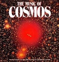Portada del LP de la banda sonora de la serie de divulgación científica Cosmos de Carl Sagan que incluyó el tema Legacy de Synergy/Larry Fast