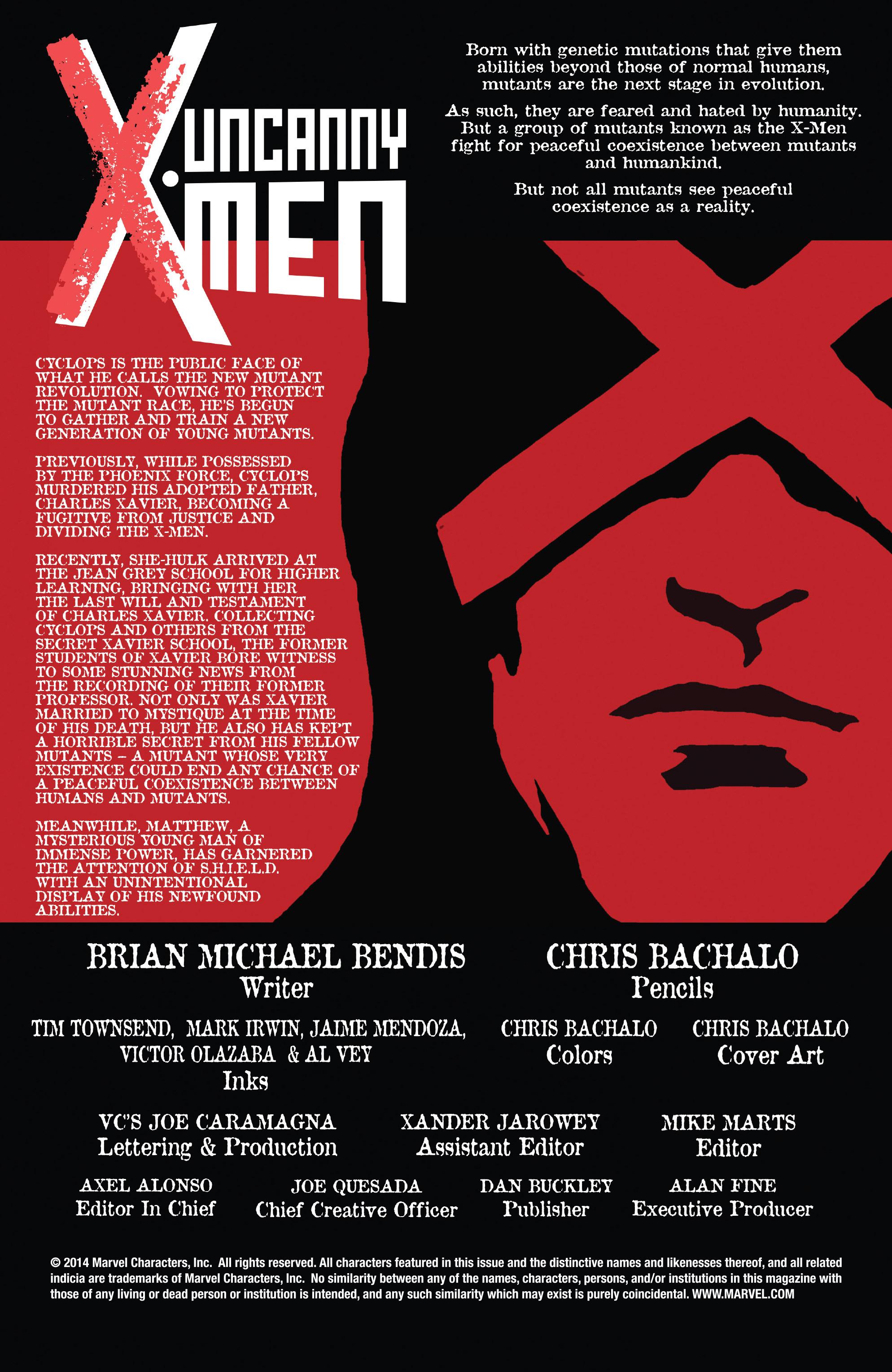 Read online Uncanny X-Men (2013) comic -  Issue #25 - 2