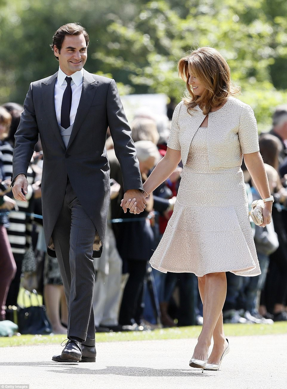 Roger Federer was joined by his wife Mirka, 39, for the nuptials of Pippa Middleton and James Matthews in Berkshire