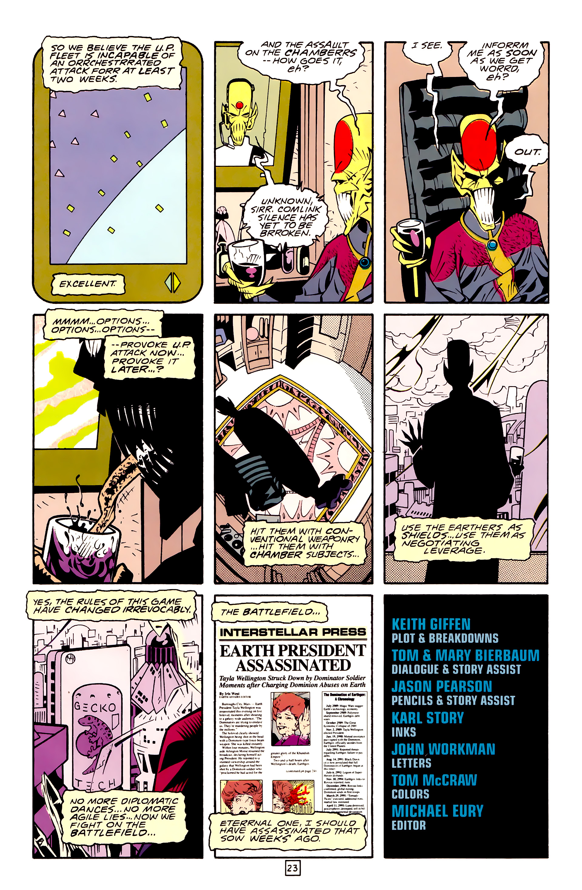 Legion of Super-Heroes (1989) 30 Page 23