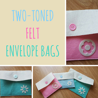 Two toned felt envelope bags
