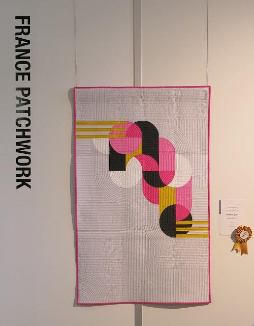 Luna Lovequilts - Bubble Gum - Première place du concours Modern Quilt organisé par France Patchwork