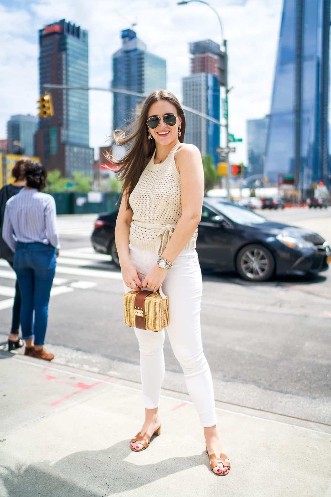 294e8808cdac Hermes Sandals styled by popular New York fashion blogger