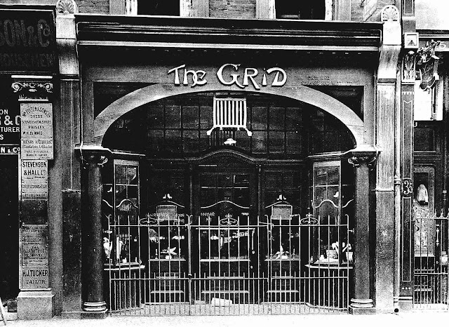 a 1907 London storefront, the Grid