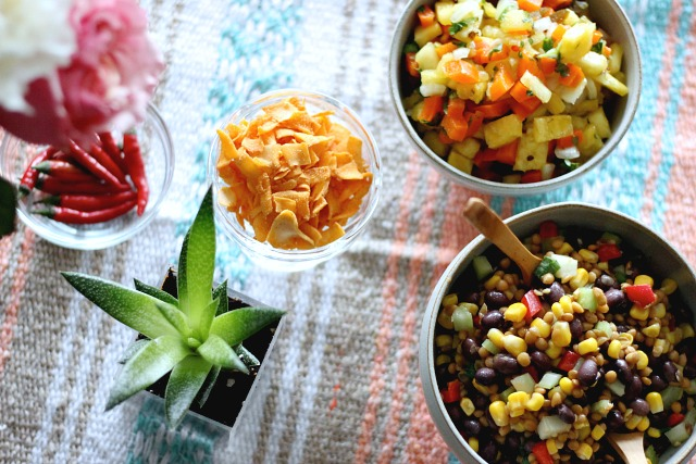 How to: Cinco de Mayo party; pineapple salsa, Mexican bean dip, cayenne brownies, infused tequila and decor