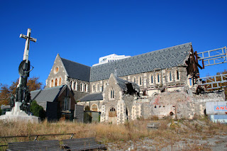 Ruins of Christchurch Cathedral, Christchurch, New Zealand
