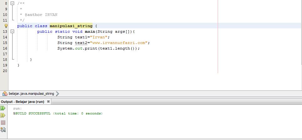 Manipulasi tipe data string length() - #IRVANGEN