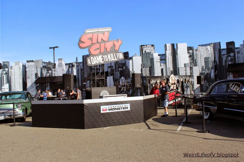 Sin City: A Dame to Kill For installation inside the Petco Park Interactive Zone - Outside San Diego Comic Con 2014