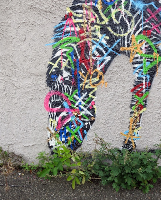Street Art Murals By Martin Whatson In Stavanger Norway For Nuart Urban Art Festival. details of zebra