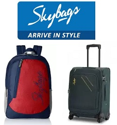 Skybags Backpacks & Luggage – Min 50% Off @ Amazon