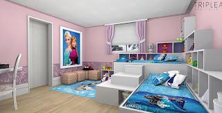 dormitorio temático frozen