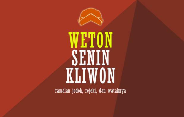 Weton Senin Kliwon