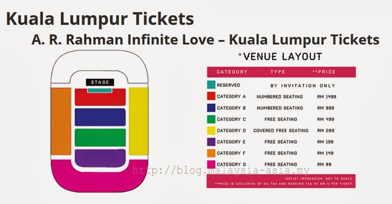 AR Rahman Live in Malaysia 2014 Layout