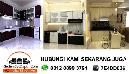 Jasa pembuatan kitchen set ciputat hub 0812 8899 3791 bb for Jual kitchen set aluminium