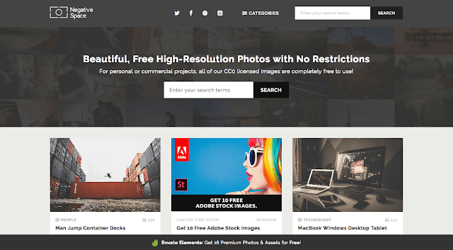 Negative Space - 20 banques d'images gratuites et libres de droits